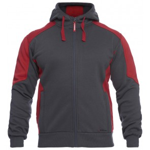 F. Engel 8820-233 Hoody Sweater Antraciet/Rood