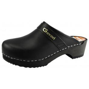 Gevavi 9200 open schoenklomp hout zwart