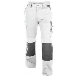 Dassy Boston Women werkbroek met kniezakken Wit/Grijs