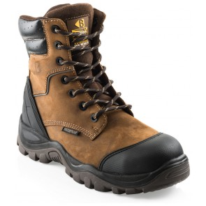 Buckler Boots BSH008WPNM Buckshot 2 S3 Hoog Donkerbruin Waterdicht Rits