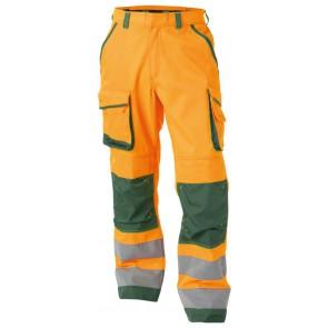 Dassy Chicago Hoge zichtbaarheidswerkbroek met kniezakken Oranje/Groen