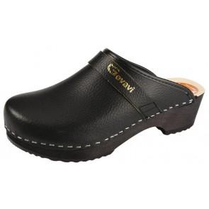 Gevavi Dakota open schoenklomp hout zwart