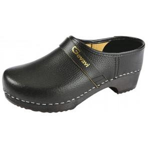 Gevavi Denver gesloten schoenklomp hout zwart