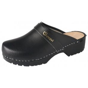 Gevavi Dinan open schoenklomp PU zwart