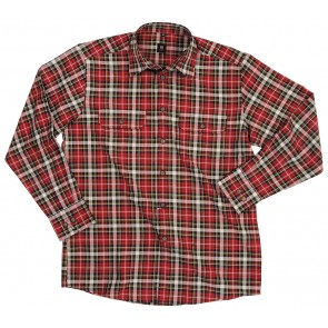FHB Erhard Werkhemd Rood-Zwart