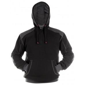 Dassy Indy Sweatshirt hoodie versterkt met canvas DNA Zwart/Grijs