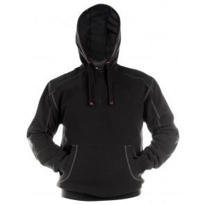 Dassy Indy Sweatshirt hoodie versterkt met canvas DNA Zwart/Zwart