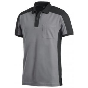 FHB Konrad Poloshirt tweekleurig Grijs-Zwart