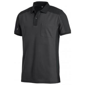 FHB Konrad Poloshirt tweekleurig Antraciet-Zwart