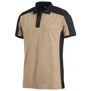 FHB Konrad Poloshirt tweekleurig Beige-Zwart