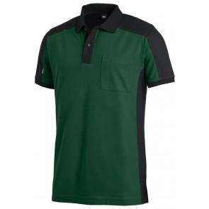 FHB Konrad Poloshirt tweekleurig Groen-Zwart