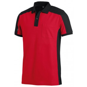 FHB Konrad Poloshirt tweekleurig Rood-Zwart