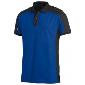 FHB Konrad Poloshirt tweekleurig Korenblauw-Zwart