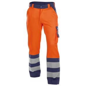 Dassy Lancaster Hoge zichtbaarheidswerkbroek Oranje/Marineblauw