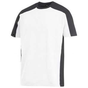 FHB Marc T-Shirt tweekleurig Wit-Antraciet