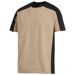 FHB Marc T-Shirt tweekleurig Beige-Zwart