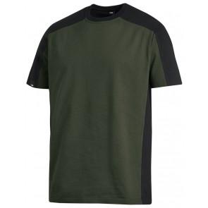 FHB Marc T-Shirt tweekleurig Olijfgroen-Zwart