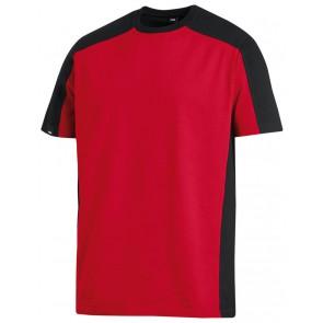 FHB Marc T-Shirt tweekleurig Rood-Zwart