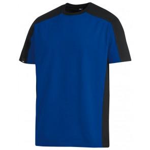 FHB Marc T-Shirt tweekleurig Korenblauw-Zwart