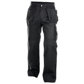 Dassy Oxford Multizakkenbroek met kniezakken Zwart - 300 g/m²