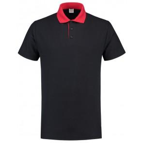 Tricorp 201004 Poloshirt Contrast Marineblauw-Rood