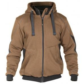 Dassy Pulse sweatshirt jas D-FX Bruin/Grijs