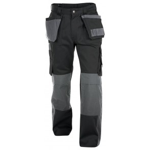 Dassy Seattle multizakkenbroek met kniezakken Zwart/Grijs 300gr