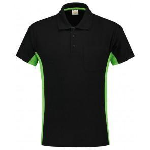 Tricorp 202002 Poloshirt Zwart-Lime