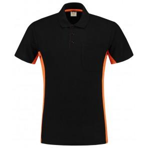 Tricorp 202002 Poloshirt Zwart-Oranje