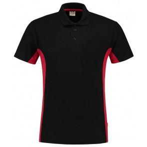 Tricorp 202002 Poloshirt Zwart-Rood