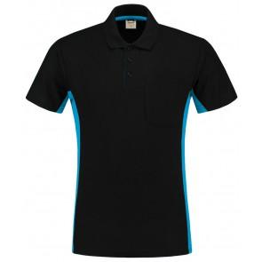 Tricorp 202002 Poloshirt Zwart Turquoise