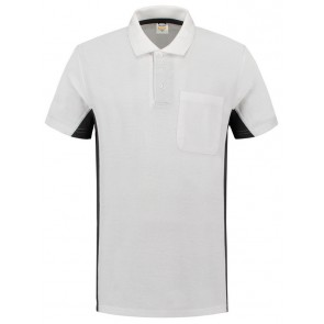Tricorp 202002 Poloshirt Wit Donkergrijs