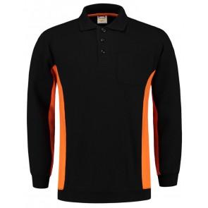 Tricorp 302001 Polosweater Zwart-Oranje