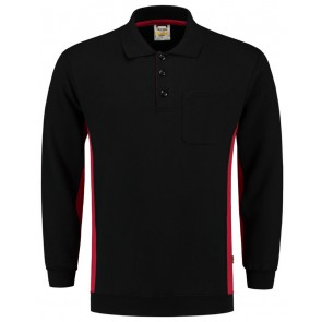 Tricorp 302001 Polosweater Zwart-Rood