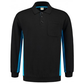 Tricorp 302001 Polosweater Zwart Turquoise