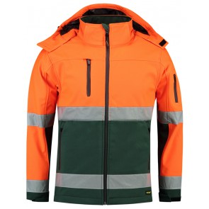 Tricorp 403007 Softshell ISO20471 Fluor Oranje-Groen