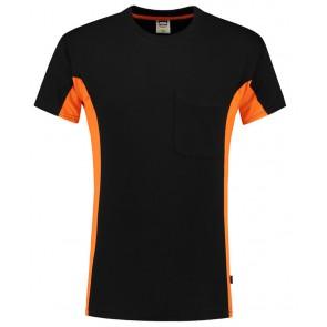Tricorp 102002 T-Shirt Zwart-Oranje