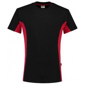 Tricorp 102002 T-Shirt Zwart-Rood