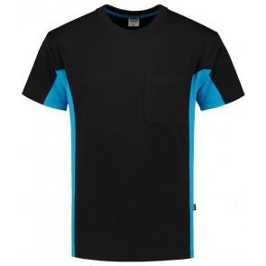 Tricorp 102002 T-Shirt Zwart Turquoise