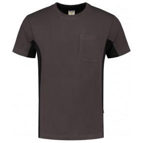 Tricorp 102002 T-Shirt Donkergrijs-Zwart