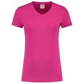 Tricorp 101008 T-Shirt V Hals Slim Fit Dames Fuchsia