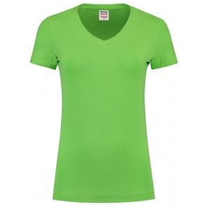 Tricorp 101008 T-Shirt V Hals Slim Fit Dames Lime