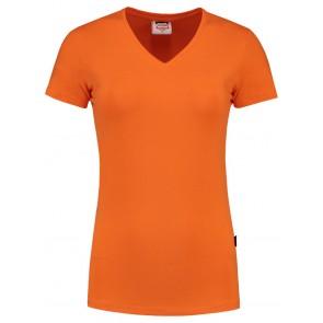 Tricorp 101008 T-Shirt V Hals Slim Fit Dames Oranje