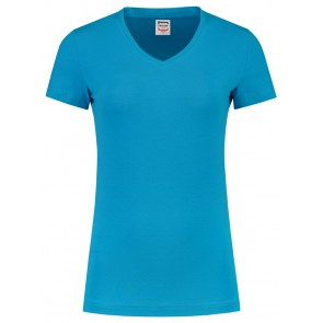 Tricorp 101008 T-Shirt V Hals Slim Fit Dames Turquoise