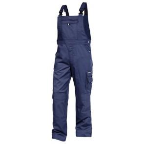 Dassy Ventura katoen Bretelbroek met kniezakken Marineblauw