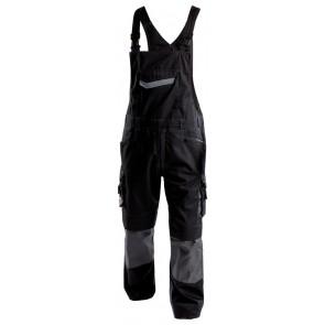 Dassy Voltic bretelbroek met kniezakken D-FX Zwart/Grijs
