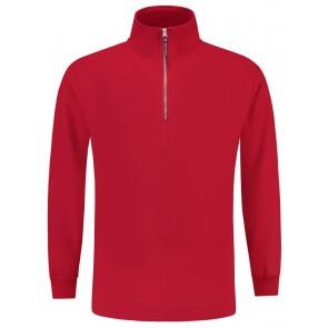 Tricorp 301010 Sweater Ritskraag Rood