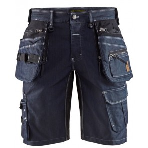 Blåkläder 1992-1141 Short Denim Stretch X1900 Marineblauw/Zwart