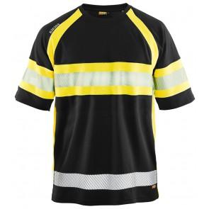 Blåkläder 3337 Zwart/Geel voorkant