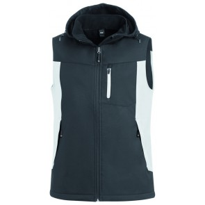 FHB Justus Softshell-Gilet Wit-Antraciet